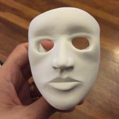 Refining facial details.