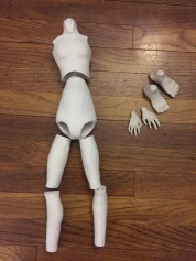 Progress of torso, legs, hands and feet.