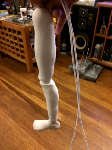 Working leg joints side view.