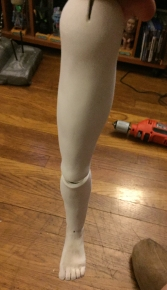 Working leg joints front view.