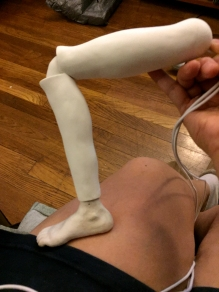 Testing knee joint.