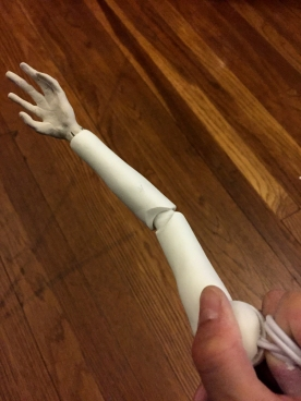 Testing arm joints.