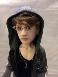 Simon in hoodie.